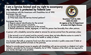 service animal card