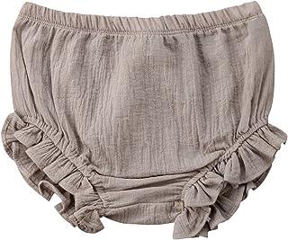 Carolilly Bermudas Bebé de Algodón Pantalones Cortos para Niña Ropa Interior Shorts Verano para Baby Girl (9 Meses-5 Años)