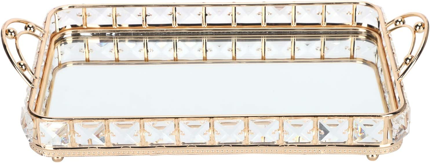 Alvinlite Storage OFFicial site Tray Glittering Surface Decorat Design Mirror Store