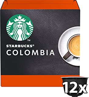 Starbucks Columbia – Espresso Coffee Pods/ Coffee Capsules by Nescafe Dolce Gusto, 12 Servings