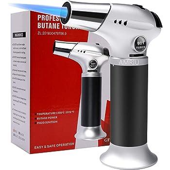 Refillable Kitchen Culinary Blow Torch Lighter Gun w// Safety Lock Adjustable