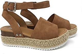 Womens Topic Espadrille Sandal Shoes Tan 7.5