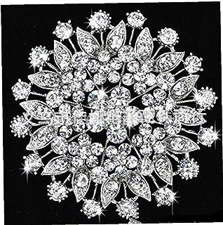 Aisoway Spilla Fiore di Cristallo Spilla di Diamanti Badge Etichetta per Le Donne