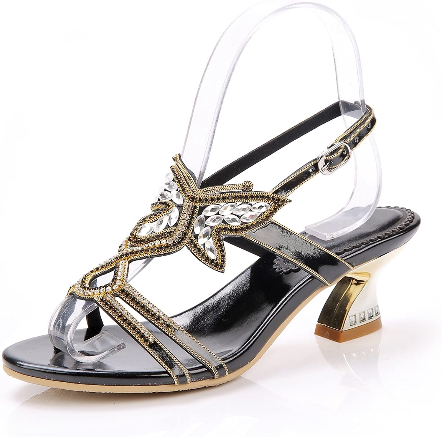 Women's shoes Leather Summer Fashion Boots Evening Wedding Bridal Prom Party Low Heel Sandals