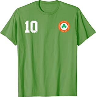 Retro Ireland Soccer Jersey EIRE Football T-Shirt number 10