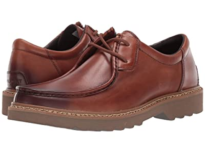 Rockport Peirson 2-Eye Tie (Cognac Leather) Men