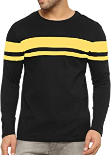 Miracle TM Stripe Summer T Shirts for Men - Adult Color Block Mens Long Sleeve Striped Shirts