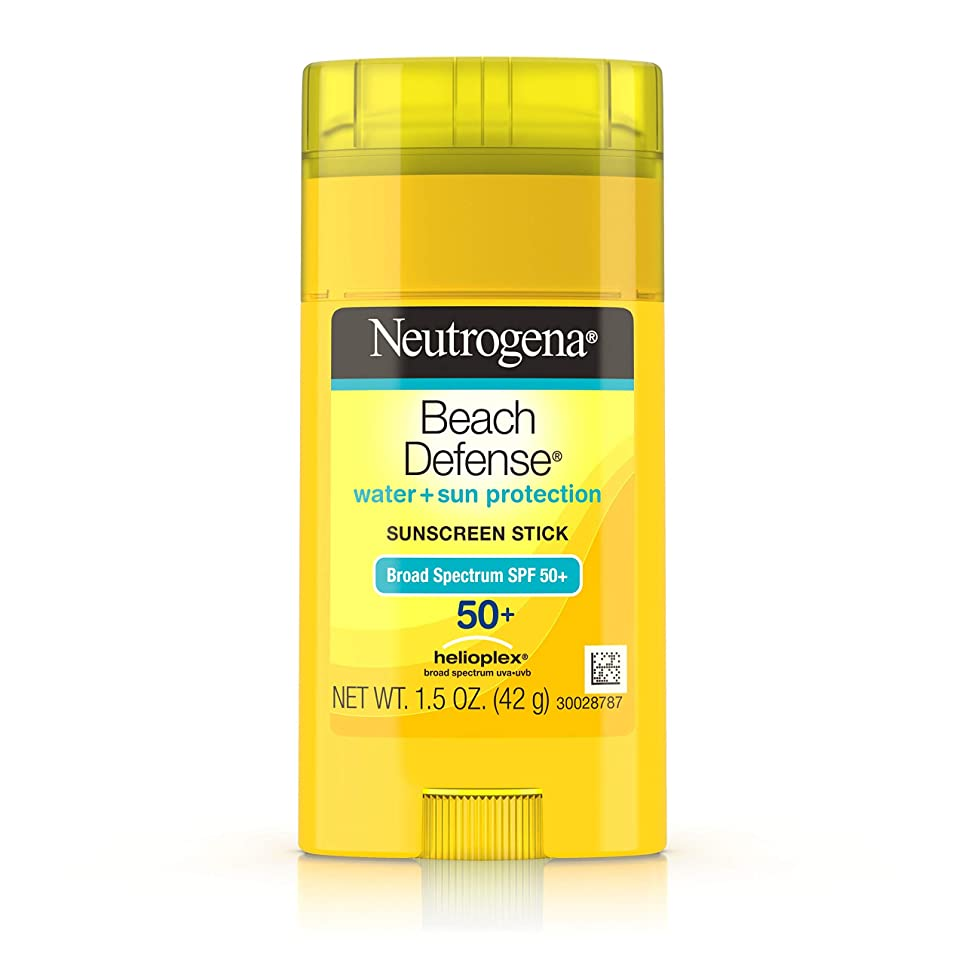 ブランクズボン待つNeutrogena Sunscreen Beach Defense Sunblock Stick SPF 50, 1.5 Ounce