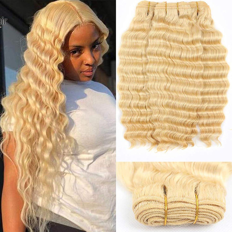 613 Blonde Sales of SALE items half from new works Deep Wave 3 Brazilian Bundles Unprocessed 100% Virgin