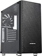 ABKONCORE C650 ATX Mid-Tower PC Gaming Case, Magnetic Dust Filter, Full Transparent Acrylic Side Panel, Water-Cooling Ready, with One 140mm Pre-Installed Fan