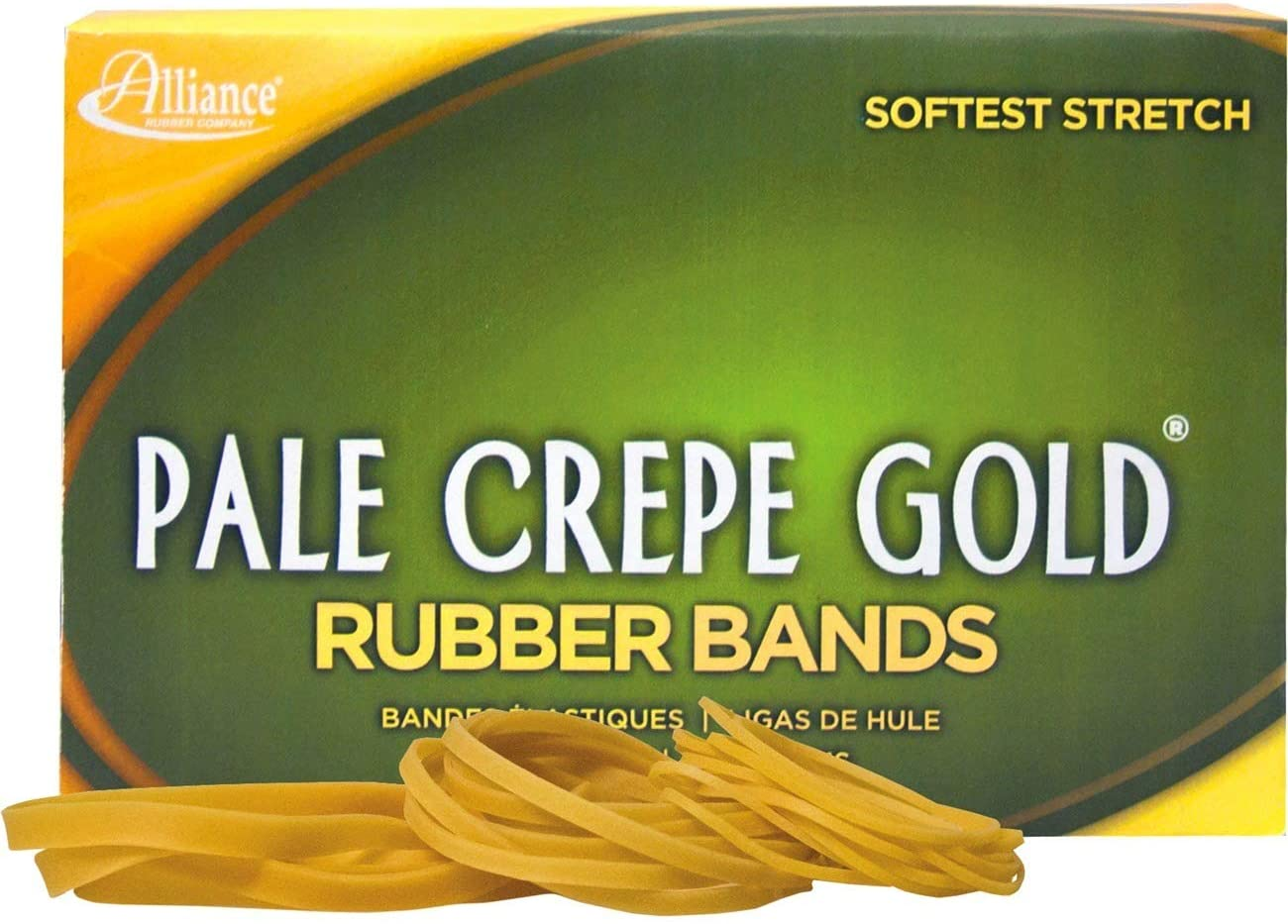 ALL20545 - Alliance Over item handling Rubber 20545 Bands SALENEW very popular Gold Pale Crepe