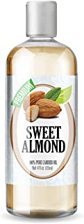 Sweet Almond Oil, 100% Pure, Premium Therapeutic Grade by Healing Solutions