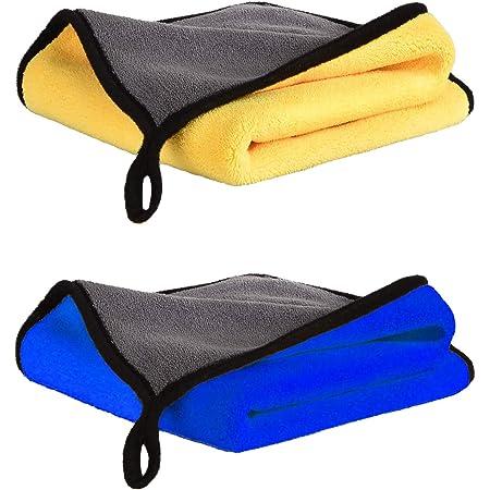 Chiffons Microfibres Sechage Voiture (40*30cm), Chiffon de Nettoyage Polissage Séchage Non Pelucheux