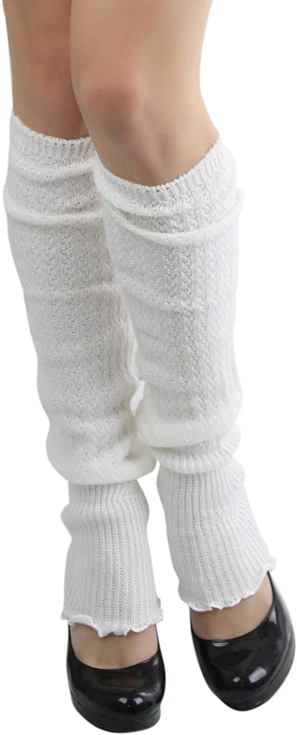 ToBeInStyle Women's Ribbed Acrylic Footless Leg Warmers