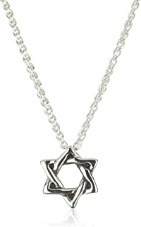 Zina Sterling Silver Sahara Cross Textured Sterling Silver Pendant Necklace 17