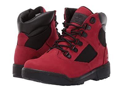 Timberland Kids 6 Fabric/Leather Field Boot (Little Kid) (Red Waterbuck) Boys Shoes