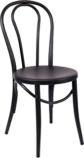 Design Lab MN Bentwood Steel Dining Chairs, Set of 2, Black