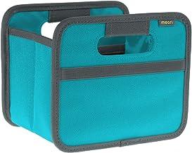 (Azure Blue) - meori Mini Foldable Box, 1.8 Litre/.5 Gallon, Azure Blue to Organise Cosmetics, Electronics, Office Supplies and More