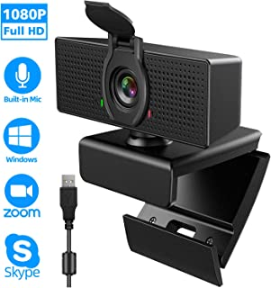 [Upgraded] Webcam with Microphone, 1080P HD Webcam, USB Plug and Play Laptop PC Desktop Web Camera, 110-Degree View Angle Computer Camera for Video Calling Recording Conferencing