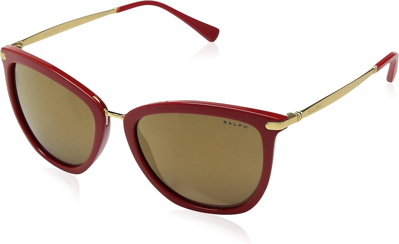 Ralph by Ralph Lauren Women's 0ra5245 NonPolarized Iridium Cateye Sunglasses RED 55.0 mm