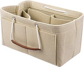 Enerhu Felt Bag Insert Bag In Bag Tote Handbag Purse Organizer Backpack Shaper With Handle