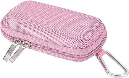 AGPTEK BC Protezione Copertura Durevole a Conchiglia per Lettore MP3 e Auricolare, Titolare con moschettone di Metallo, Colore Rosa