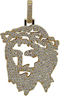 Hiphop Necklace, قلادة مع قلادة المعلقات من منقذ للرجال مغني الراب جوهرة الهيب هوب مكعب زركونيا الرصيف الذهب والفضة
