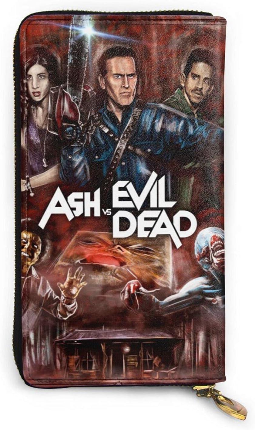 The Evil Dead Wallet Mens Larg Zipper Womens Mail order Slim Some reservation Leather