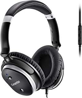 Conambo CQ6 Active Noise Cancelling Headphones, Over Ear Wired Headphones with Mic, Strong Bass, Lightweight, 40Hours for Travel and Office