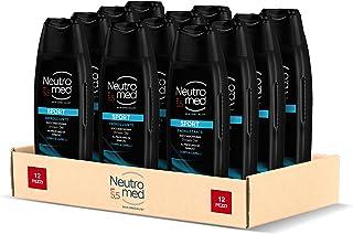Neutromed Sport Docciaschiuma Uomo Energizzante, Docciashampoo per Corpo e Capelli, Confezione da 12 Pezzi x 250 ml