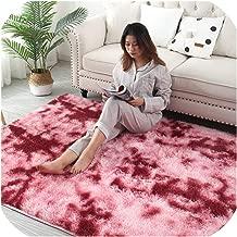 Gradient Color Living Room Carpet European Long Hair Fashion Bedroom Mat Bay Window Bedside Blanket Washable Personality Rug,8,120X200Cm