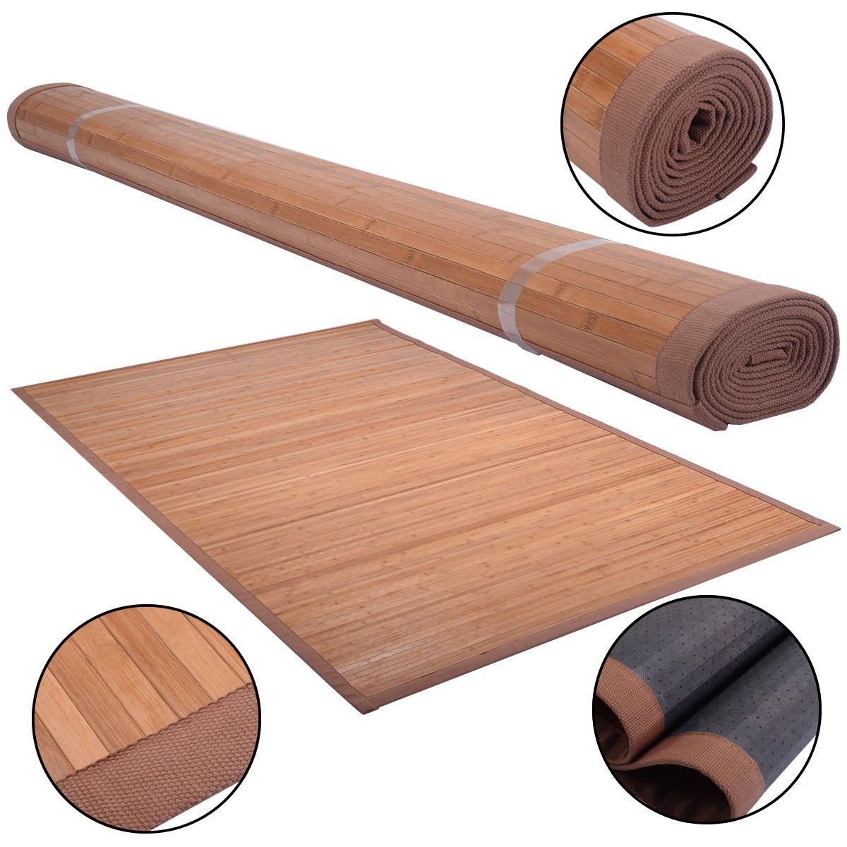 Nature 5/' X 8/' Bamboo Area Rug Floor Carpet Bamboo Wood Indoor Outdoor New