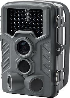 サンワダイレクト トレイルカメラ 防犯カメラ 乾電池式・12ヶ月待機可能 防水防塵IP54 不可視赤外線46灯 夜光らない 写真 動画 自動撮影 120°検知 400-CAM067