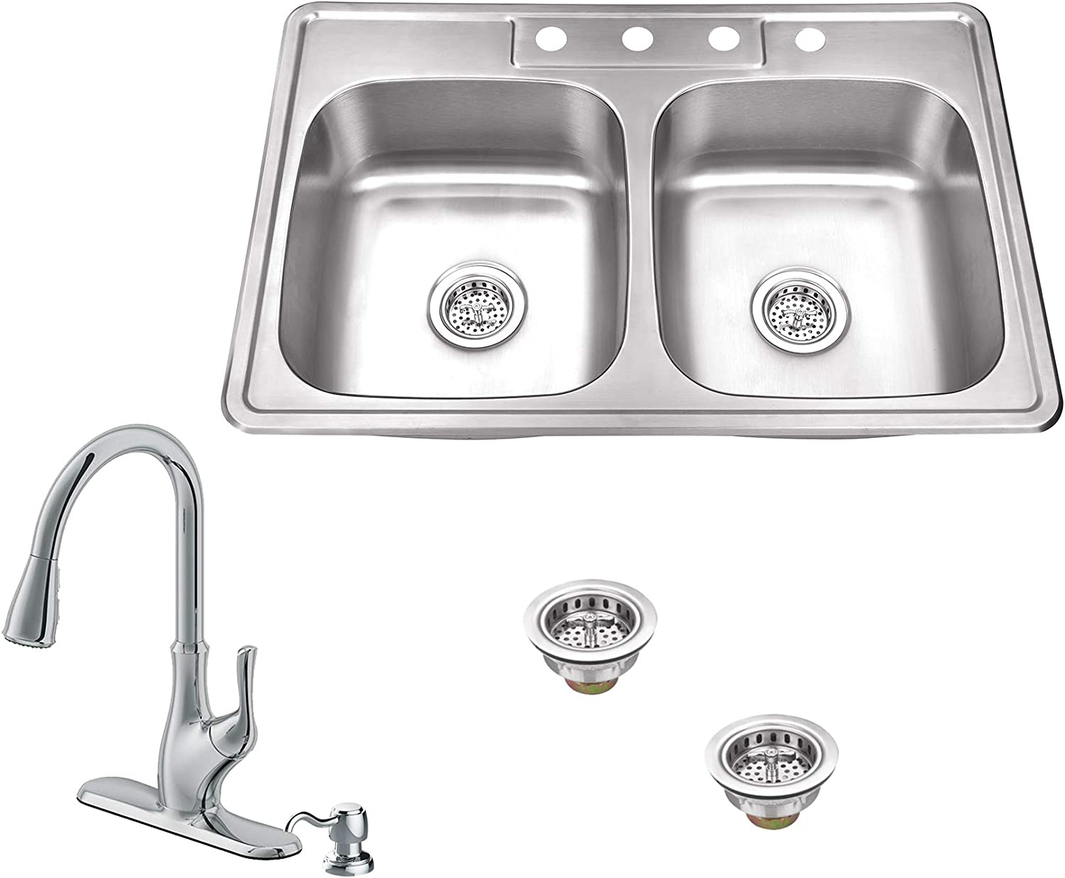 Excellence Soleil SSDP5050P7636CP 33-in x 22-in Steel 50 Year-end annual account Doubl Stainless