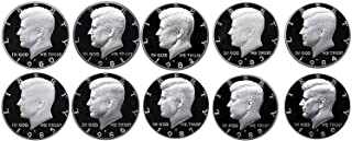 1980 S 1981 S 1982 S 1983 S 1984 S 1985 S 1986 S 1987 S 1988 S 1989 S Kennedy Half Dollar Gem Run 10 Coin Set .50 US Mint Proof