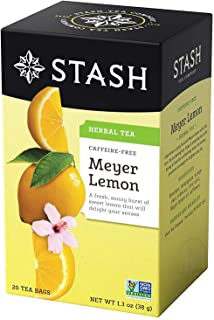 Stash Tea Meyer Lemon Herbal Tea 20 Count Tea Bags in Foil (Pack of 6) (Packaging May Vary) Individual Herbal Tea Bags for...