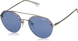 VOGUE Women's 0vo4113s Round Sunglasses silver 54.0 mm