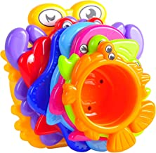 MooToys Under the Sea Animals Bath / Sand Stacking Cups For Boys And Girls. Brightly Colored (MT-109)