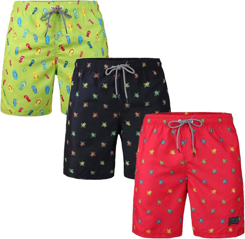 IvanTom 3 Pack Men's Swim Attention brand Fees free!! Trunk Ho Bathing Lining Swimming Mesh