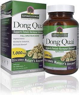 Nature's Answer Dong Quai Root 1000mg | Dietary Supplement | Supports Female Hormone Balance | Non-GMO, Vegan, Kosher Cert...