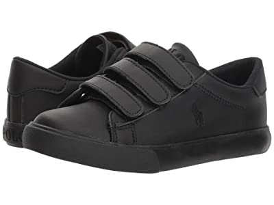 Polo Ralph Lauren Kids Easten EZ (Little Kid) (Triple Black Tumbled) Boy