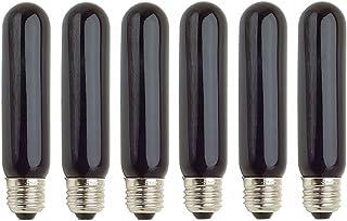 Pack Of 6 40T10/BL, 40 Watt, T10, BL, 120 Volt, Blacklight, Standard E26 Base, Incandescent Light Bulb