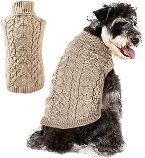 Fdit Hundebekleidung Pullover Zip-up Hoodie Niedliche Hund Katze Welpen Hoodies Klassische warme Strickjacke Schneemann Elk f/ür Silvester Weihnachtsfest S-Gelb