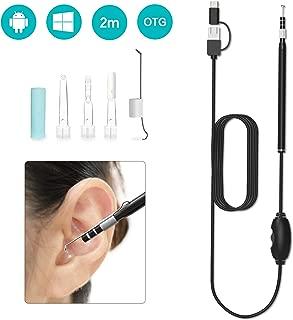耳掃除 Splaks 耳かきカメラ 電子耳鏡 耳鏡カメラ USB内視鏡 耳かき 耳鼻検査 ライト付き 携帯・パソコン兼用 輝度調節 720P 130万画素 3in1 日本語取扱説明書付き