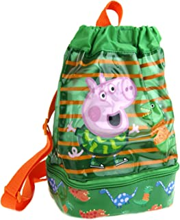 Peppa Pig  George Children/'s School Travel Pull String Gym Bag Green