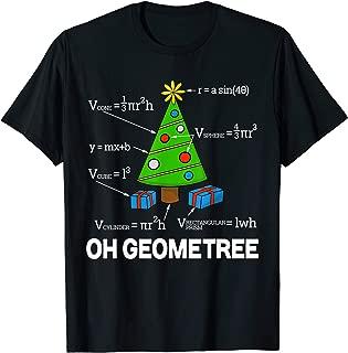 Funny Math Geometry Christmas Tree Geometree Teacher Shirt T-Shirt