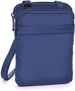 Hedgren Rupee Passport Wallet, Crossbody Travel Bag, RFID Blocking, Dress Blue
