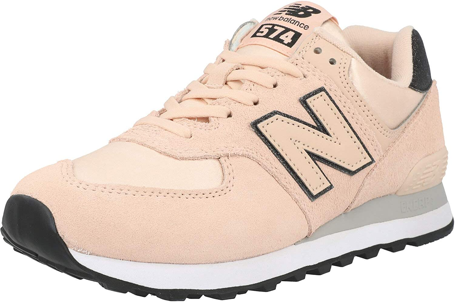 New Balance 574 Rose Water Rain Cloud Trainers Adult Shoes Animer and price revision Department store Suede