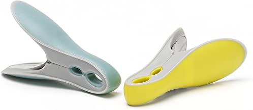 Brabantia Laundry Pegs, Pack of 8, Yellow/Mint,