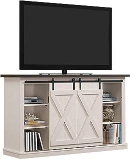 Pamari Wrangler Sliding Barn Door TV Stand, Off-White